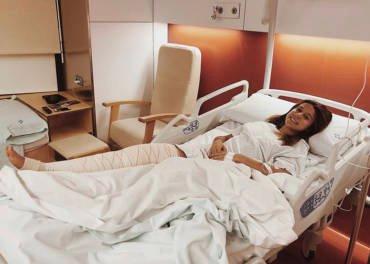 Cristina Lara se sotmet a una artroscòpia al genoll dret