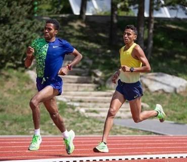 Oukhelfen, Chakir i Alaiz al 3.000m de Sabadell