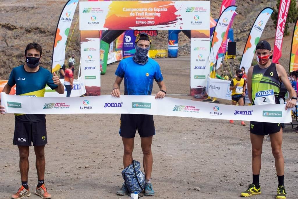 Andreu Simón Aymerich (CA Olesa) al podi del campionat d'Espanya trailrunning 2020